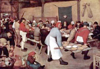 Wedding Feast by Pieter Bruegel