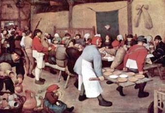 Wedding Feast by Pieter Bruegel