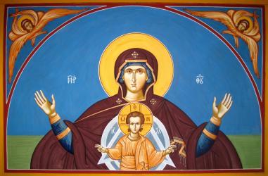 Theotokos icon by Ephrem Carrasco