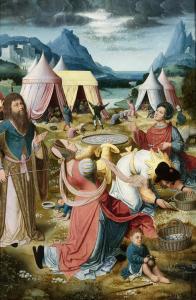 Unknown master: Gathering Manna in the Desert (1510-1520)